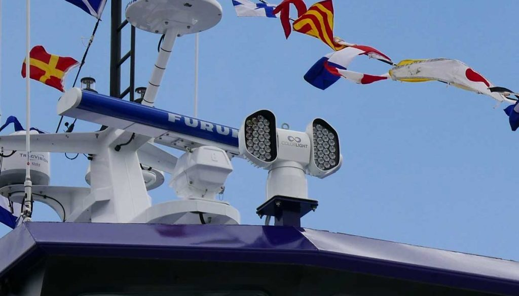 Colorlight CLITE 2 on the Icon Legend wind farm support vessel