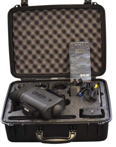 Components supplied with the FLIR BHM Series handheld thermal image camera