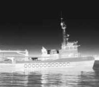 High definition thermal image of a tug